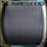 En acier inoxydable AISI304 Wire Rope 7X7 7X19 un diamètre de 1 mm-40mm