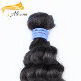 Extensão brasileira preta natural Remy do cabelo do cabelo humano