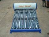 Colorir o calefator de água solar compato de aço