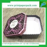 Caja de embalaje de cartón personalizadas de flores de papel Caja de regalo