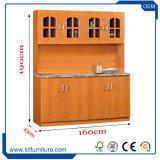 Module de cuisine en bois modulaire en stratifié moderne avec 4 compartiments de PVC de porte