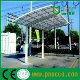 Independiente de policarbonato de aluminio exterior Carports alquiler de viviendas