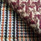 Tela colorida mezclada de las lanas de Houndstooth del tweed, tela gruesa de Houndstooth de las lanas de las lanas del color de la mezcla