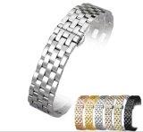 Fivela para cinto em aço inoxidável sólido Band 5 cordões trança bracelete 20 22 24 26mm Watchband homens High-End&Mulheres Pulseira Cotovelo Clássico