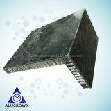 Or la pierre de couleur noir le revêtement de mur extérieur en pierre de panneaux de revêtement mural Honeycomb