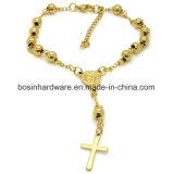 De gouden Armband van de Ketting van de Bal van de Rozentuin van de Vrouwen van het Roestvrij staal