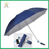 ثلاثة يطوي مظلة مع بوليستر بناء زبون علامة تجاريّة طباعة