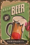 De antieke Tekens van het Tin van het Metaal van het Bier van de Decoratie van de Bar
