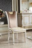 0062-1イタリアの純木の贅沢で旧式で長いダイニングテーブル白いカラーセットの家具