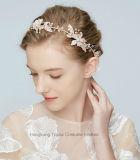 금 또는 은 머리 부속품 큰 잎 여자 투구 모조 다이아몬드 꽃 머리를 Wedding 신부 머리띠 Tiaras