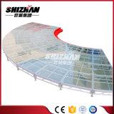 Fase piegante di alluminio di Toughend della fase della fase di vetro a forma di ventaglio del settore