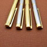 Silver Gold Carving Slim stylo à bille de métal et le rouleau jeu de plumes.