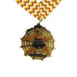 Colgador personalizado mayorista cintas Lanyard medalla de bronce