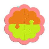 La forme d'enregistrement de haute qualité Round Table PVC Coaster avec logo d'impression personnalisée tasse Coaster