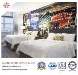 Einfache Hotel-Schlafzimmer-Möbel mit hölzerner Bett-Unterseite (YB-H-15)