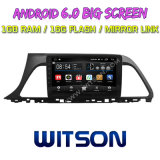 """Witson 9 """" Grote Androïde 6.0 Auto van het Scherm DVD voor (LAGE) Sonate van de Generatie van Hyundai de 9de"""