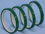 Tipo cinta del material del animal doméstico y de la cinta del aislante del verde para el cable