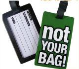 Etiqueta de goma suave de encargo del equipaje del PVC del precio de fábrica