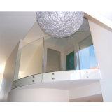 Balcon balustrade de verre courbé/ acier Balustrade rambarde