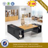 어두운 회색 전면 패널 호두 탁상용 사무실 테이블 (UL-MFC585)