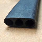 Personalizar os três orifícios de extrusão de plástico de PVC preto a fita de vedação