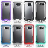 Металлические DOT Beetle противоударная для сотового телефона Samsung S7 S7 Egde прозрачных футляров