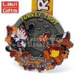 Venta caliente de metal personalizados Soft enamel Matriceria Butterfly Deporte medalla de metal
