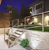 베란다를 위한 발코니 스테인리스 방책 디자인 철사 난간 유리제 방책
