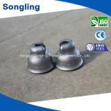 磁器の絶縁体または陶磁器の絶縁体のための可鍛性鉄の帽子