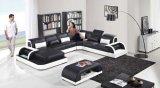 Sofa de divan de salle de séjour de cuir véritable de modèle moderne de la Chine