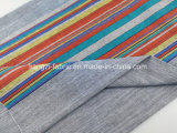 면 털실 셔츠 Lz7711를 위한 염색된 조방사 줄무늬 직물