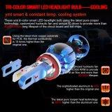 이중 색깔 차 LED 헤드라이트 전구 25W 3000 루멘 H11 LED 헤드라이트 단 하나 광속