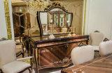 0070-1 deckte festes Holz Luxuxfurnier-blatt mit dem hohen Glanz ab, der klassisches Buffet anstreicht
