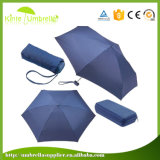 Paraguas plegable mini 5 del bolsillo del caso de EVA