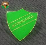 Distintivo a forma di di Pin del risvolto di marchio di Shiled Enamle del metallo dell'OEM