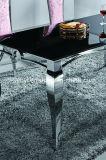 Modern & Klassiek Aangemaakt Glas of de Marmeren Hoogste Eettafel van het Roestvrij staal