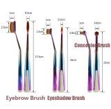 Schönheit benötigt Form-ovale Verfassungs-Pinsel-Set-PRObasis-Pinsel-Set-Puderblusher-Augenbraue-Pinsel-Basiseyeliner-Verfassungs-Pinsel der Zahnbürste-5PCS mit Halter