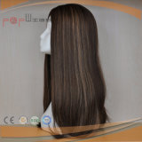 Parrucca superiore di seta dei capelli umani (PPG-l-0616)