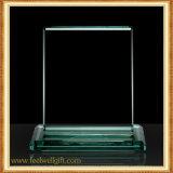 Trofeo de cristal en blanco de encargo de la llama