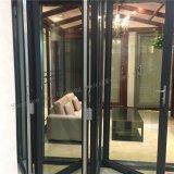 Porta deslizante da porta Bi-Fold de alumínio com vidro temperado dobro