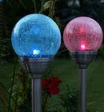 Solargarten-Lampe des heißen Verkaufs-2017 mit 8cm Glaskugel-im Freien Solargarten-Licht