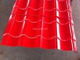 O metal ondulado de PPGI PPGL que telha chapas de aço trapezoidalmente vitrificou a telha de telhado