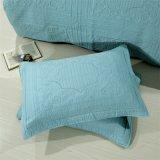 Lichtblauwe Katoenen vier-Stuk Vastgestelde Wasbare Dekbedden