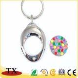 Moeda simbólica personalizada Keychain do trole do metal da liga do zinco