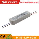 12V 5A LED 60W Transformador ac/dc de alimentación de conmutación de HTS