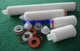 Filtração de bebidas 0,22 0,45 Mícron Cartucho de filtro de fibra de vidro