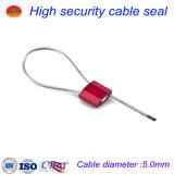 selos ajustáveis da segurança do cabo de fio de aço de 5.0mm