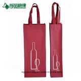 Singoli sacchetti di Tote non tessuti personalizzati del vino del regalo del sacchetto della bottiglia