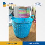 La Chine ménage Salle de bains avec les roues de 3 couches de plastique PP le lavage des vêtements Panier à linge en plastique pliable Panier à linge