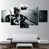Retratos impressos do poster dos instrumentos musicais do painel da arte 5 da parede da pintura do frame da lona HD da decoração sala de visitas moderna Home